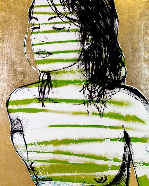 Belinda Green Stripes on gold leafing