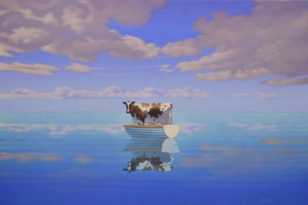 Bovine in a Boat