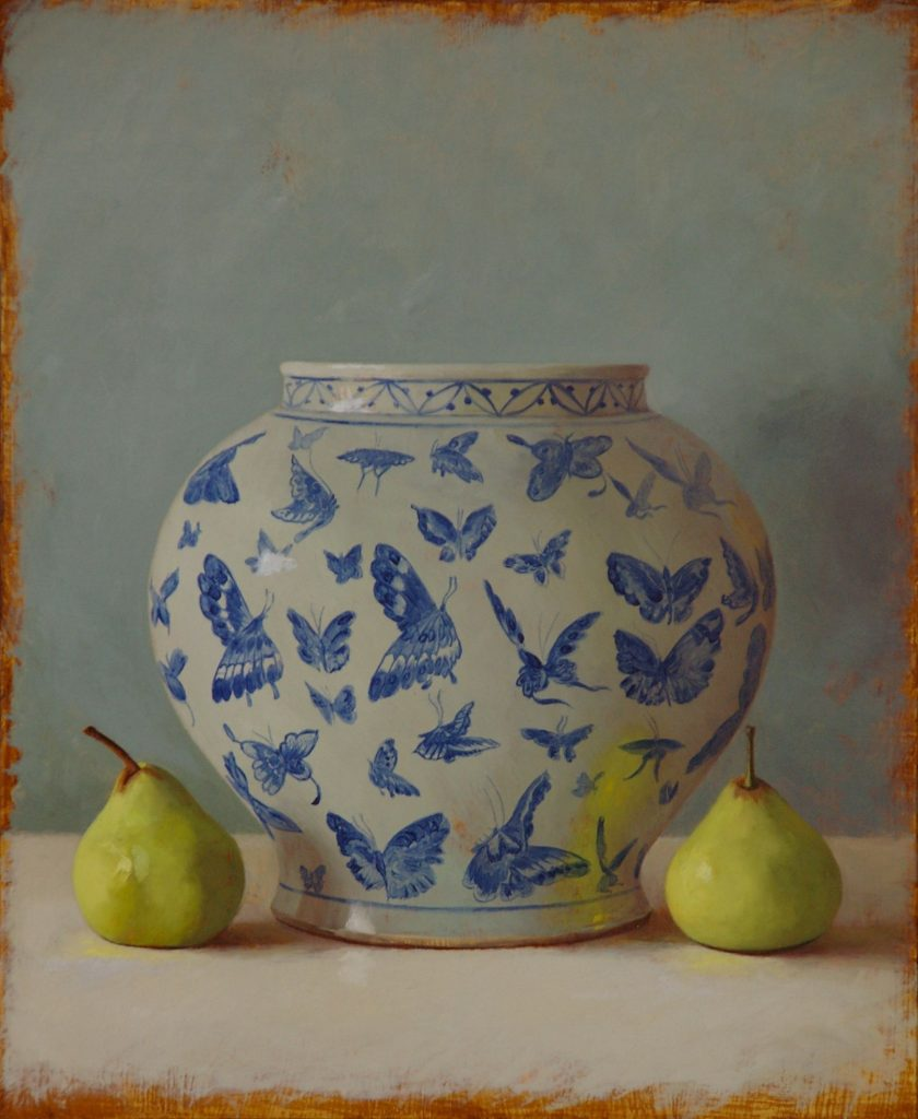 Butterfly Vase and Josephine Pears