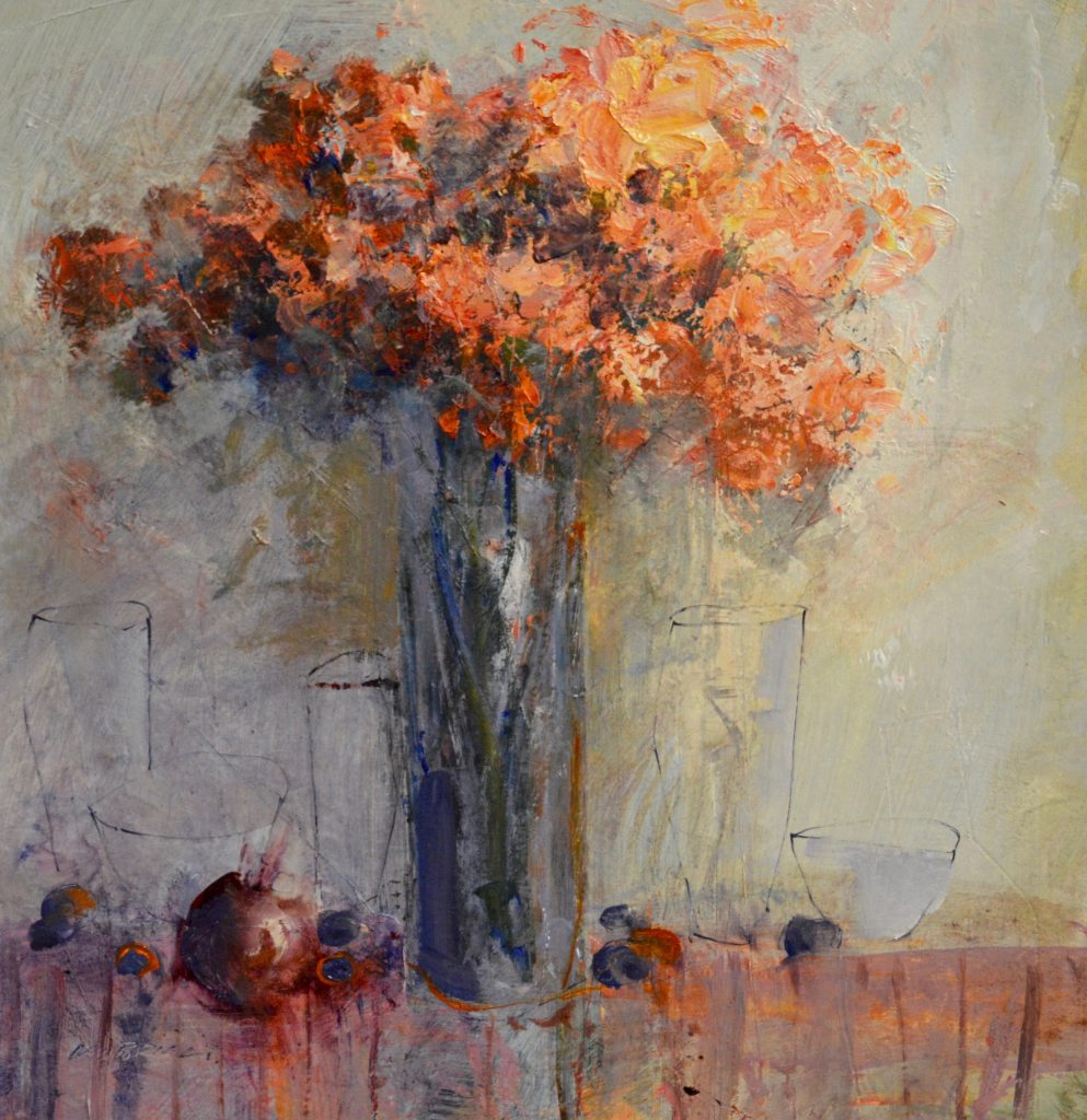 Still life with orange blooms