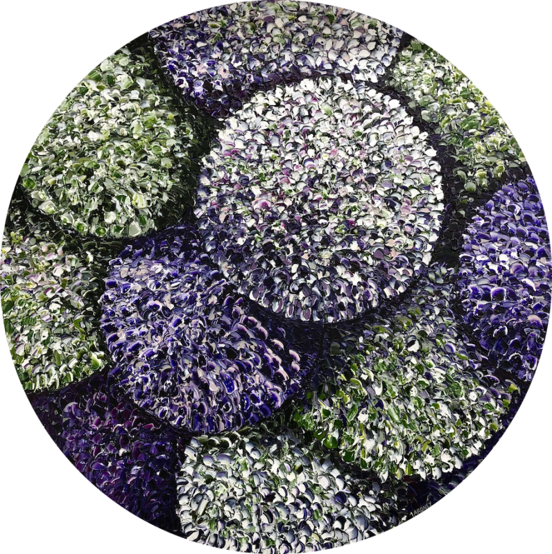 Hydrangea wheel purple