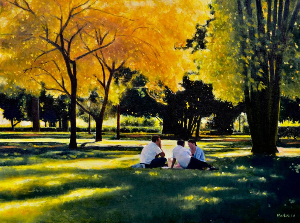 Picnic in the Park by Christopher McVinish at Gallery One