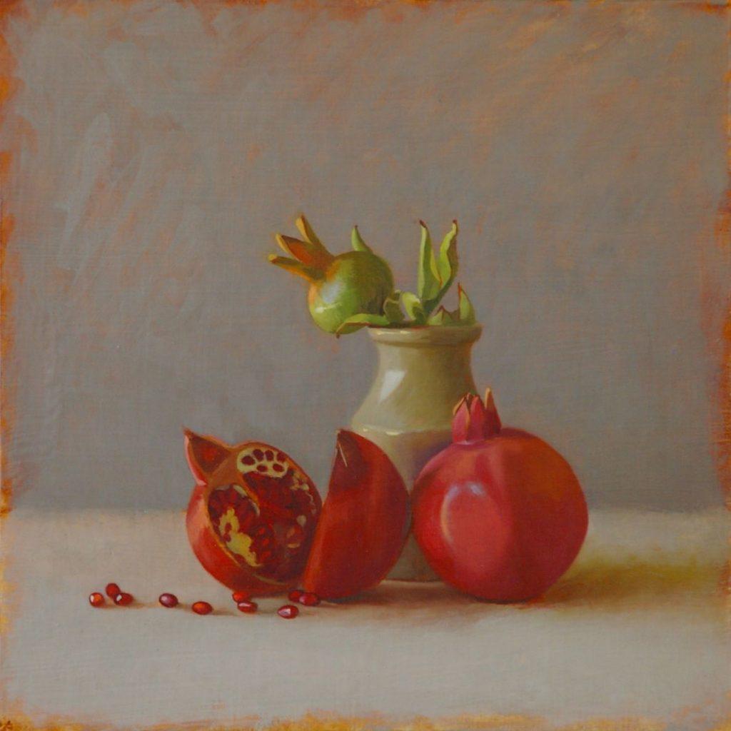 Pomegranates and Jar