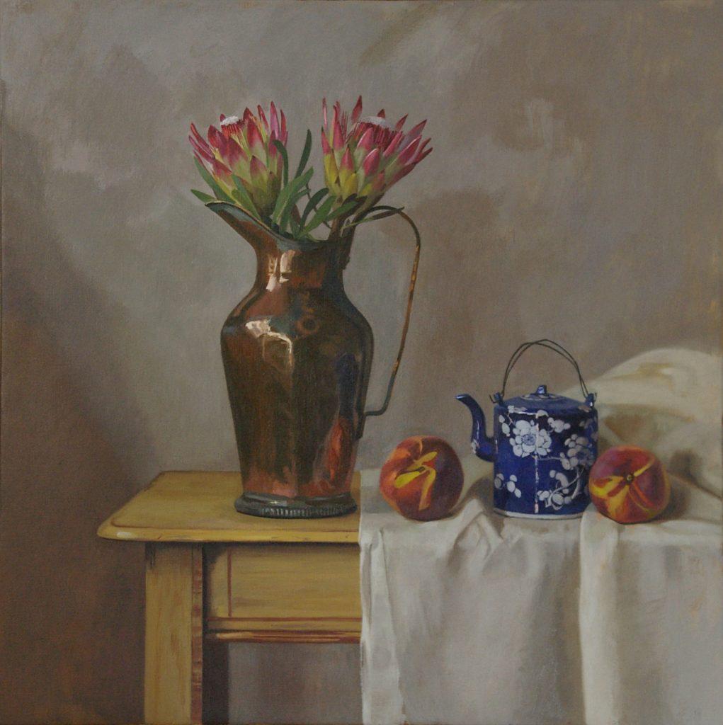 Protea's, Peaches & Teapot
