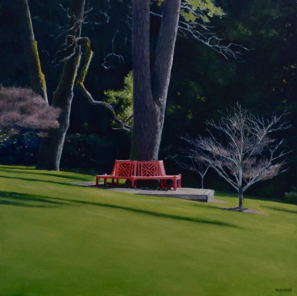 The Red Seat by Christopher McVinish at Gallery One