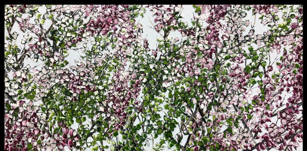 Walking down blossom
