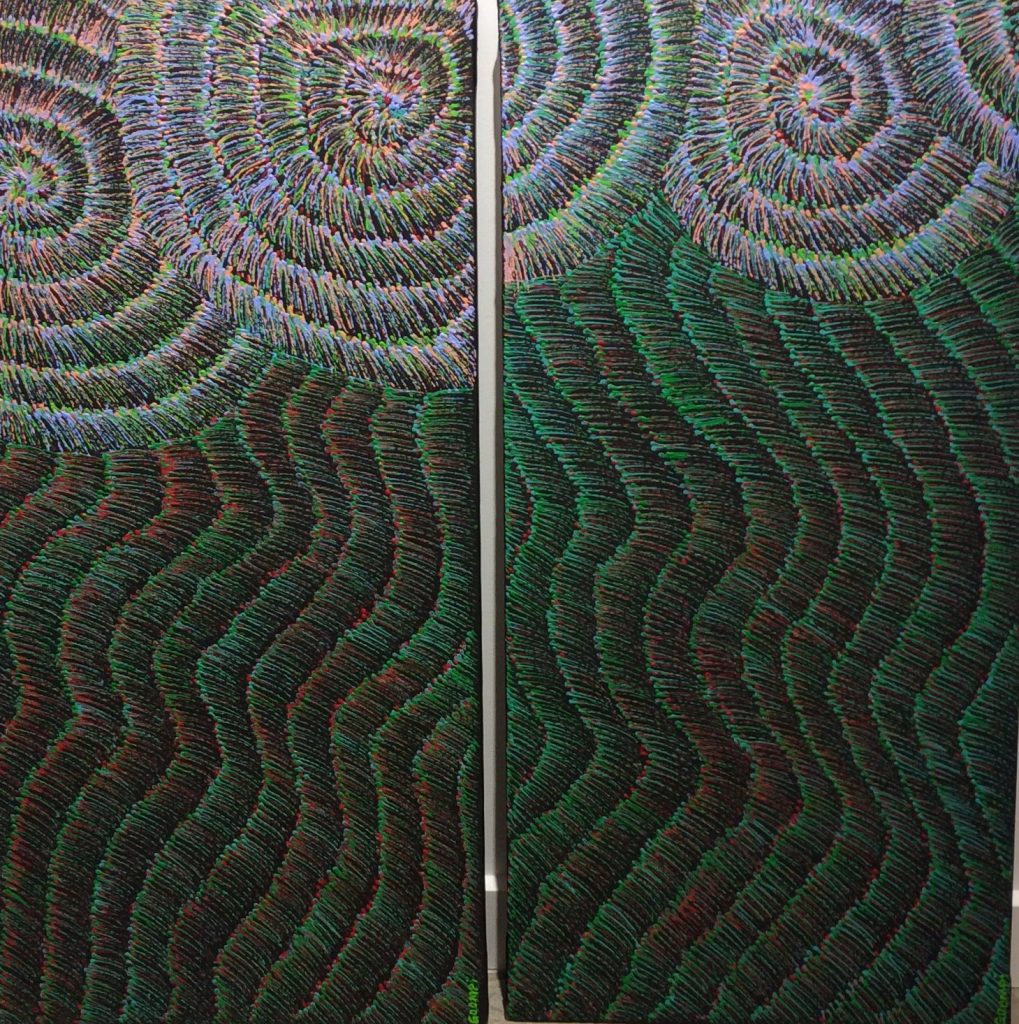 Yulu Buriba 'Sand and Surf' Diptych