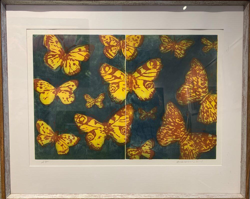 Yellow Butterflies (Framed)